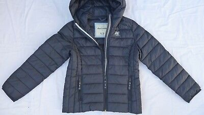Youth Girls Boys ABERCROMBIE & FITCH KIDS Puffy Jacket Winter Coat Size 9 / 10