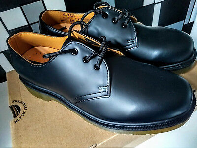 new high quality design outlet for sale DR MARTENS 1461 Unisex Shoes Smooth Black New Size 7 UK ...