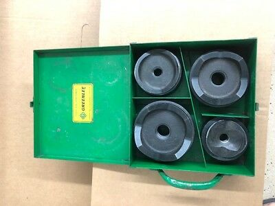 """Greenlee  2-1/2"""" - 4"""" Conduit Size Standard Round Knockout Punch Kit"""