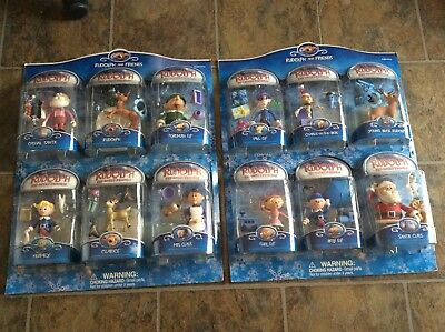 BRAND NEW! SET OF 12! 2003 Rudolph Red-Nosed Reindeer Figure 6 Packs x2