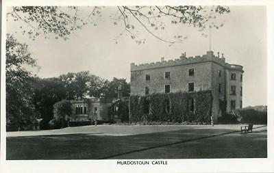 Real Photo Postcard Of Murdostoun Castle, (Near Newmains), Lanarkshire, Scotland