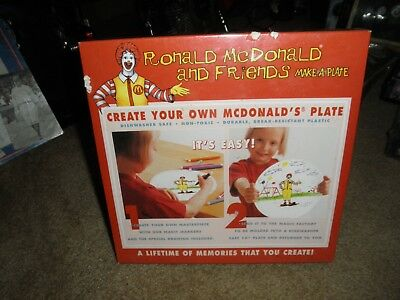 Brand New---Sealed Ronald Mcdonald And Friends Make A Plate 2001