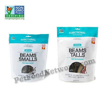 The Honest Kitchen Dental Beams  Fish Skin Chews Dog Treats (Free Shipping)