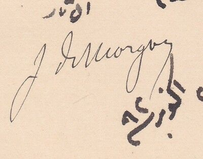 Egypt Egyptologist France Cpl Paper Signed By Morgan 1899