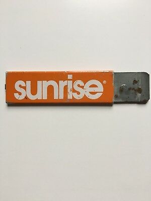 Vintage Advertising Box Cutter... Sunrise, Lightly used, Good Condition