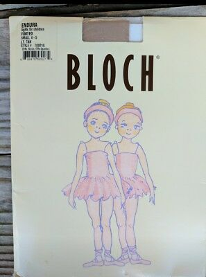 Bloch Endura Tights Footed Ballet TAN size small 4-5 CHILD #T0921G NEW