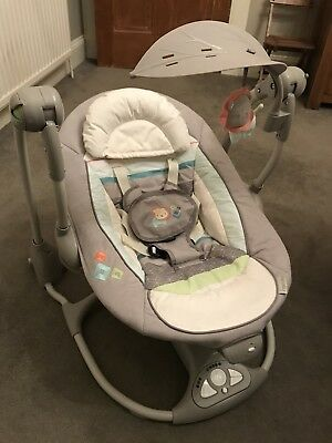 Ingenuity Convert Me To Seat 2 in 1 Baby Swing with Music and Vibration