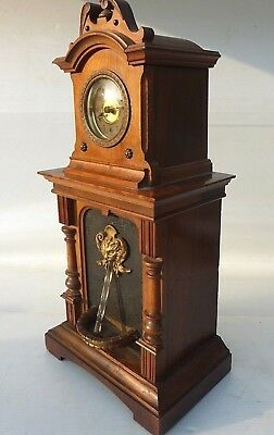 Rare Working Antique Automaton  Fountain Mantel Clock By HAC Germany blackforest