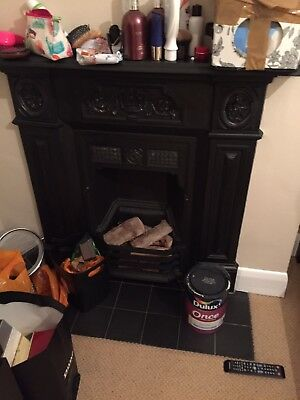Cast iron victorian fireplace