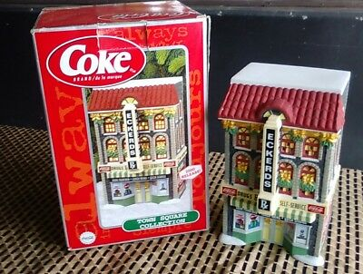 Coca Cola Town Square Collection Eckerds Drug Store Holiday Christmas Village