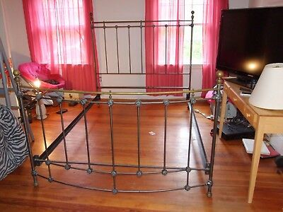 Domain home furnishing iron and brass bed queen size