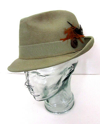 bf70c278 Men's United Hatters Caps & Millinery Works Green Wool Fedora Hat Size M 7  ...