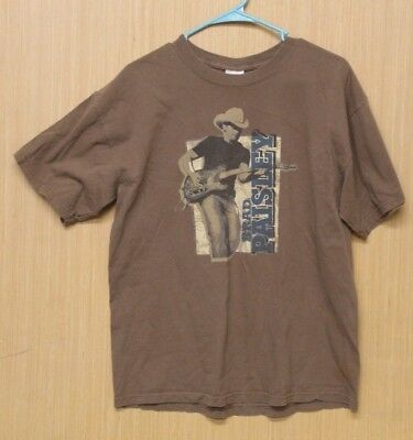 Brad Paisley Brown Tee Shirt Hershey Presents The Paisley Party Tour Size Large