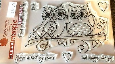 Woodware Clear Magic Owl Banner FRS355