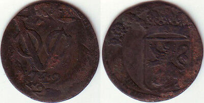 VOC Holland 1742 DOUBLE STRUCK on date Netherlands Indies Indonesia  ( 60 )