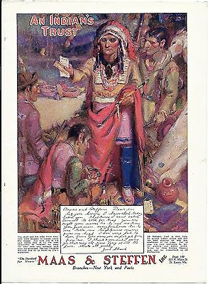 1930 Print Ad MAAS & STEFFEN ~ RAW FUR BUYERS ~ AN INDIAN'S TRUST ~ TRAPPING