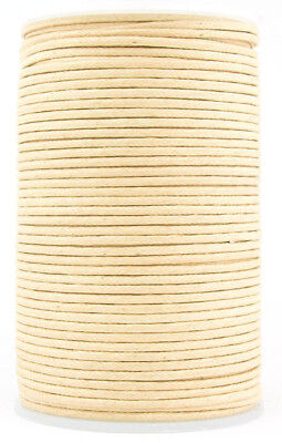 Natural Round Waxed Cotton Cord 1.5mm 100 meters