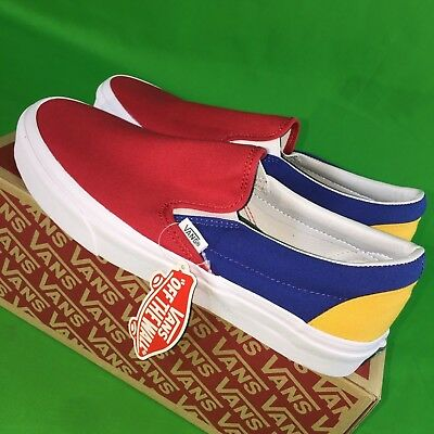 6f604e008b9730 VANS OLD SKOOL Yacht Club Size 9 Colorblocked Red Blue Yellow Green ...