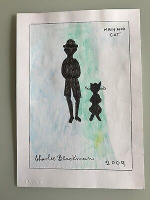 Charles Blackman watercolor and mixed media on paper