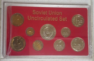 USSR Russia Uncirculated 1989 Proof Coin Set 9 Coins Sealed in CASE