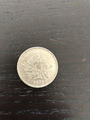 5 Francs (Coin of France) Seed sower, 1973
