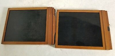 Lot of 2 (TWO) Lock Plate Holder No. 4 Cart and Nos. 4 S.F. Kodak
