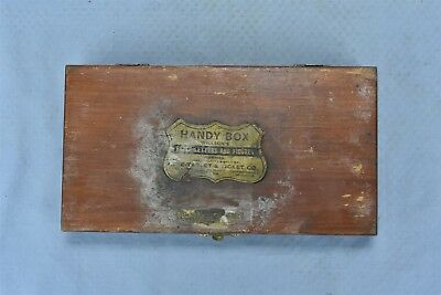 Antique WILLSON'S HANDY BOX PAPER LETTERS & FIGURES TABLET & TICKET CO SF #05272