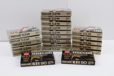 Lot Of 12 Brand New Maxell XLII 60, 90, & 110 Cassettes