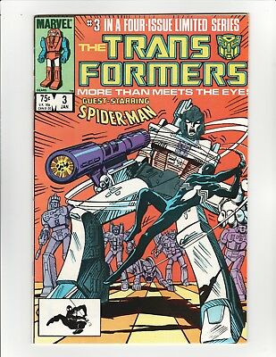 Transformers #3 - Early Spider-Man in Black Costume - 8.5 Very Fine +
