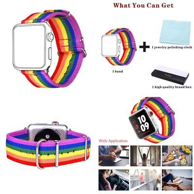Strap for Apple Watch Band Pride Rainbow Color LGBT Wrist Brace 42Mm