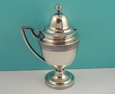 Antique Tiffany & Co 925 Sterling Silver Mustard Pot Jar