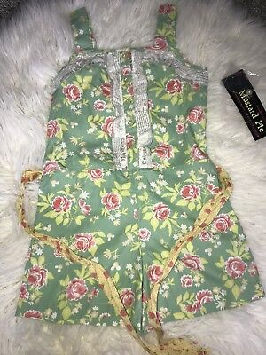 MUSTARD PIE Girls 10 NWT LUCINDA ROMPER Spring Summer MP Girls Romper