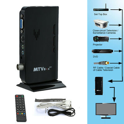 External LCD VGA TV PC Box Analog Program Receiver Tuner HDTV 1920*1200 K8C8