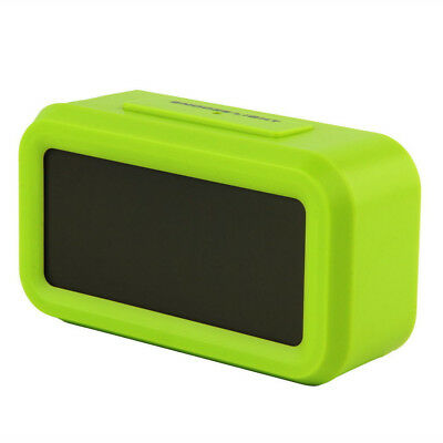 Digital LCD Snooze Electronic Alarm Clock with LED Backlight Light Control US