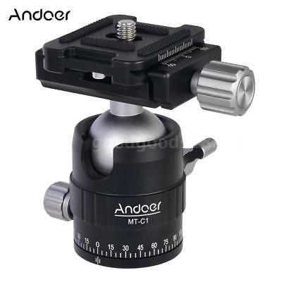 Andoer 360° Rotation Panoramic Tripod Ball Head Adapter with Quick Release Plate