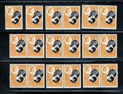 1962 Swaziland 18 x MNH Sc 92 Queen Independance, Wholesale yy
