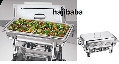 8.5L Stainless Steel Chafing Dish Lid Party Cater Food Warmer Fuel Buffet Tray