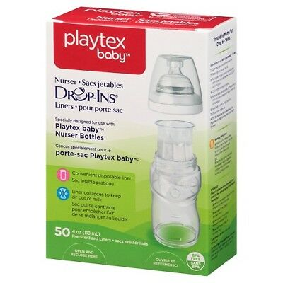 Brand New In Box Playtex Baby Drop-in Liners - 4oz, 50 Ct.