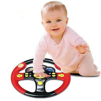 Children's Steering Wheel Toy Baby Childhood Educational Driving Simulation JC