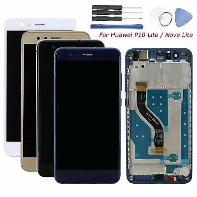 Per Huawei P10 Lite / Nova Lite Display LCD Touch Screen Digitizer + Frame Tools