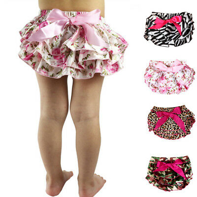 Toddler Baby Girls Bowknot Ruffle Bloomer Nappy Underwear Panty Diaper