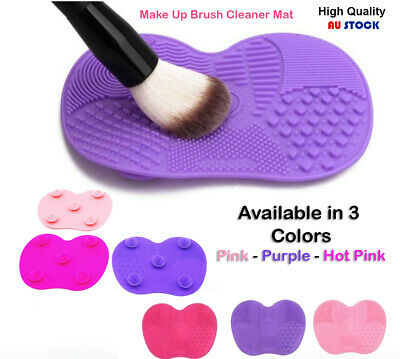 Silicone Makeup Brush Cleaner Washing Scrubber Board Cleaning Mat Tool XL L S