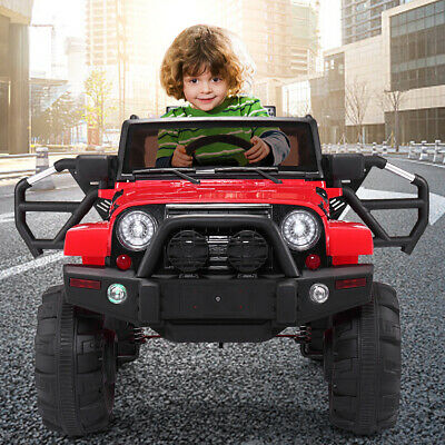 Jeep style Kids Ride on Truck W/Remote Control 12V Battery Powered Electric Car