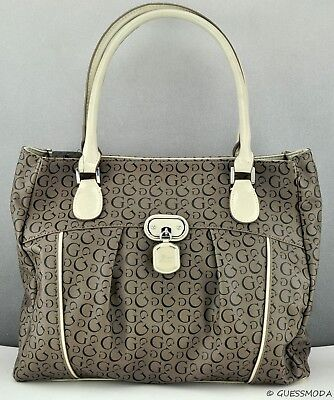 a7734564f009 Brand New GuEsS Rare Collections Handbag Ladies Cologne Lg Bag Taupe Satchel