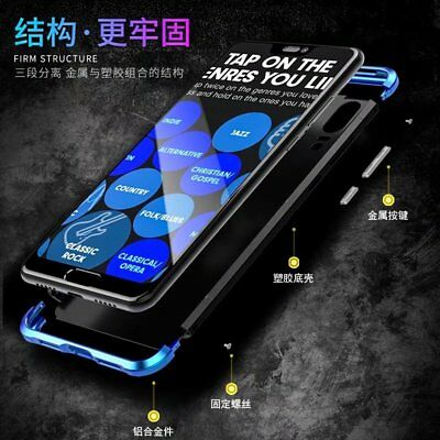 For Huawei P20/Pro, Luxury Aluminum Metal Bumper Hybrid Armor PC Back Case Cover