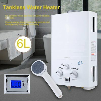 Charmant 6L Tankless Gas Water Heater Propane Gas LPG 2 GPM Outdoor RV Camper  Portable BO