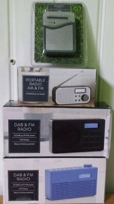 Dab Portable Radio AM FM  Digital LCD  Display - Quick Sale!!!!