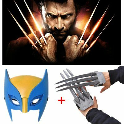 Wolf Wolverine Claws Plastic Toys&Wolverine Mask Cosplay Props Halloween Gift*BW