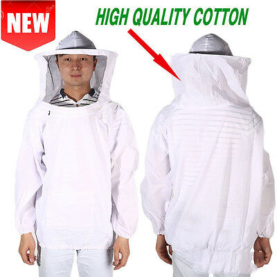 Beekeeping Suit Jacket Veil Hat Bee Keeping Pull Over Smock Protective Equipm AQ