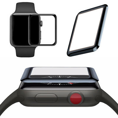 2 x 3D für Apple Watch Curved Schutzglas 42mm Smartwatch Displayglas 0,2mm H9